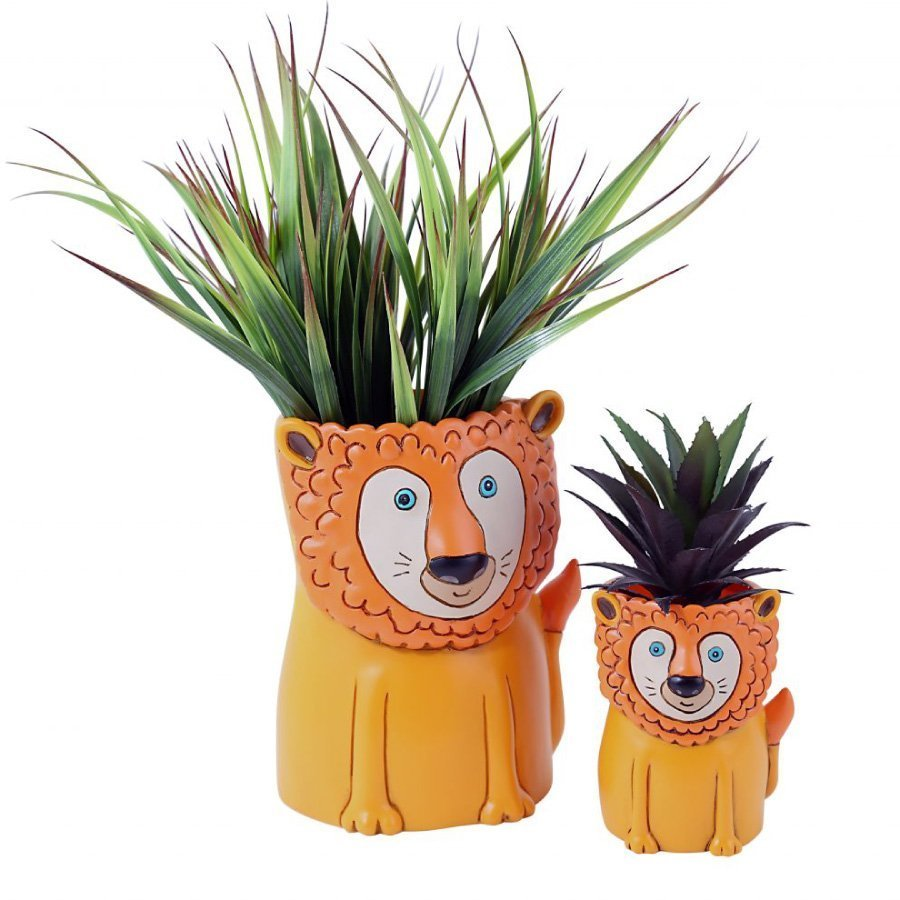 Lion Planters - Mother and Cub