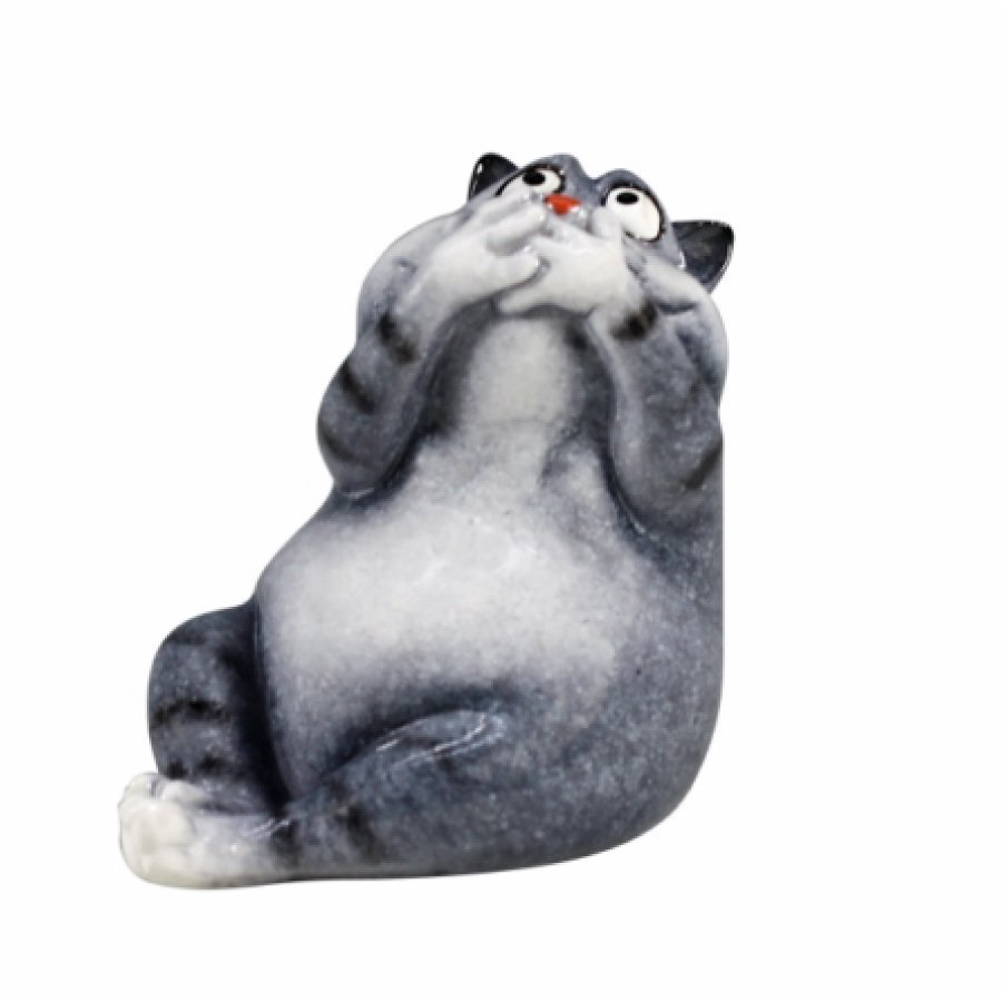 Blue/Grey Yoga Cat What The……