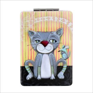 Pussycat Compact Mirrors Pill & Trinket Boxes